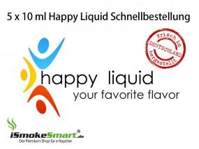 5 x 10 ml Happy Liquid (Schnellbestellung)