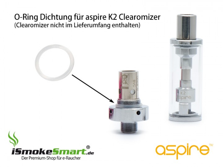 aspire k2 clearomizer silikon o ring dichtung. Black Bedroom Furniture Sets. Home Design Ideas