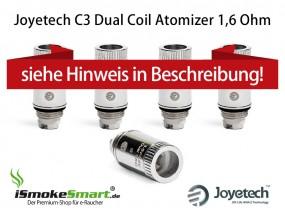 5 Joyetech C3 Dual Coil Atomizer (Delta 16 Verdampfer-Köpfe)