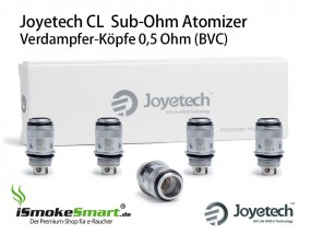 5 Joyetech CL Atomizer 0,5 Ohm (eGo ONE Sub-Ohm Verdampfer-Köpfe)