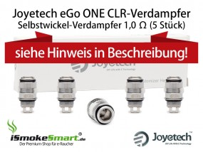 5 Joyetech CLR Atomizer 1,0 Ohm (eGo ONE Selbstwickel-Verdampfer)