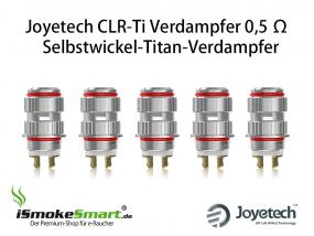 5 Joyetech CLR-Ti Atomizer 0,5 Ohm Selbstwickel-Verdampfer (Titan-RBA)
