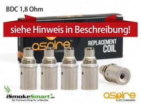 aspire BDC Ersatz-Verdampfer 1,8 Ohm (5 Stück)