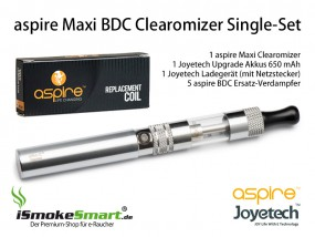 aspire Maxi BDC Clearomizer Single-Set (silber, clear)
