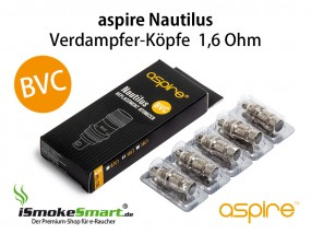 aspire Nautilus / Mini BVC Ersatz-Verdampfer 1,6 Ohm (5 Stück)