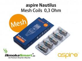 aspire Nautilus Mesh Ersatz-Verdampfer 0,3 Ohm (5 Stück)