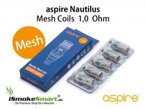 aspire Nautilus Mesh Ersatz-Verdampfer 1,0 Ohm (5 Stück)